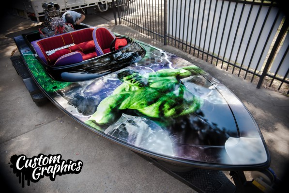 Custom Boat graphics - HULK
