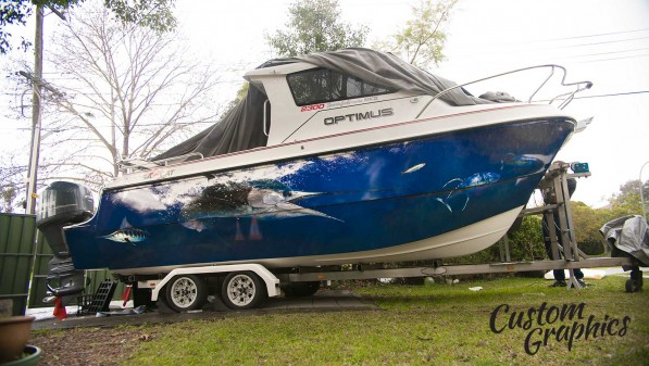 Exclusive boat design and boat wraps