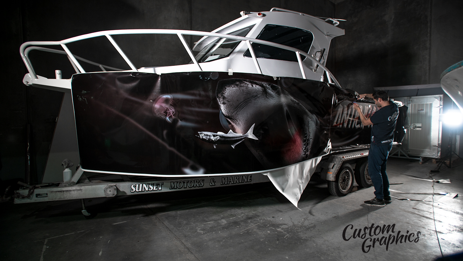 Boat design and wrap.
